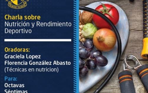 Charla de nutrición y rendimiento deportivo