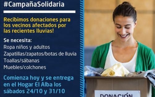 Campaña Solidaria por las tormentas