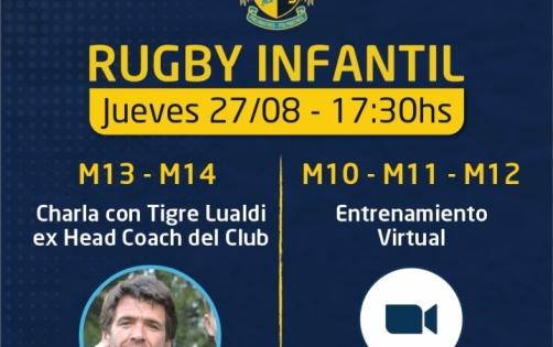Actividades por duplicado en rugby Infantil