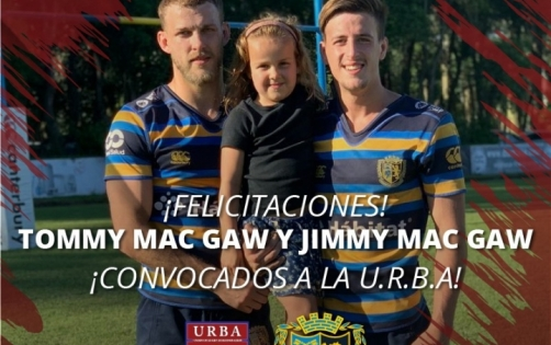 Los hermanos Mac Gaw convocados al Seven de la URBA