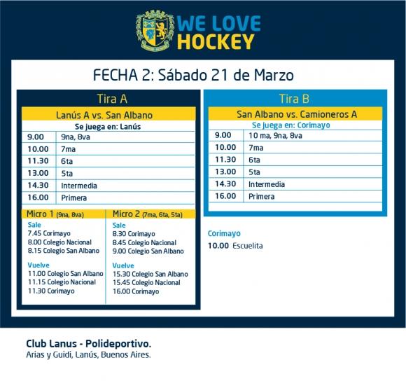Hockey: Actividades del 21/3