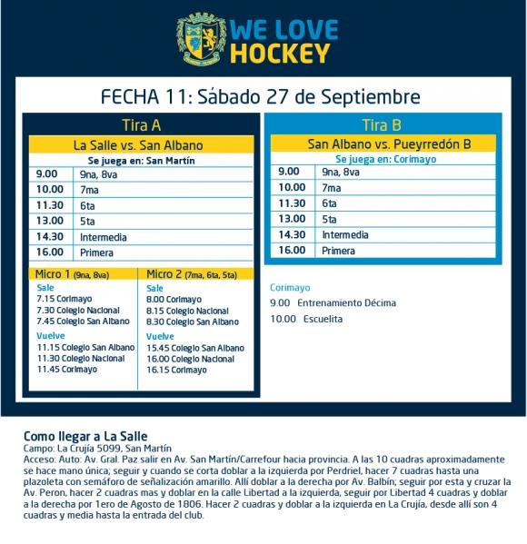 Hockey: Actividades del 27/9