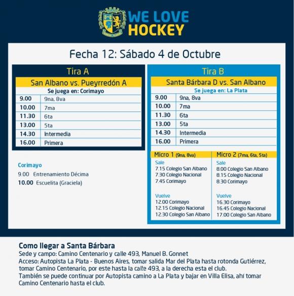 Hockey: Actividades del 4/10