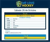 Hockey: Actividades del 26 de octubre