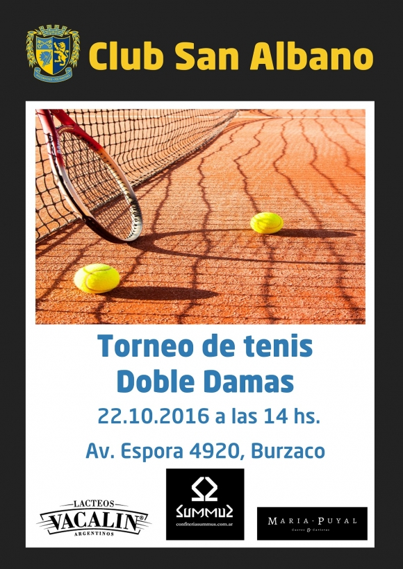 Tenis: torneo de Doble Damas