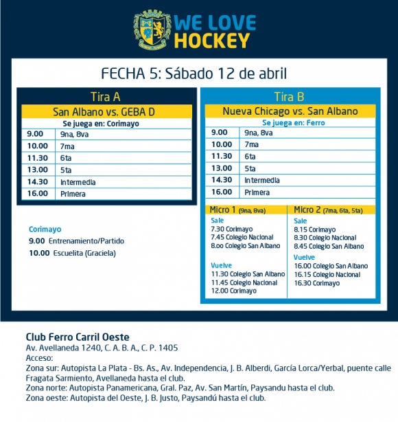 Hockey: Actividades del 12/4