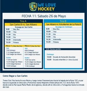Hockey: Actividades del 26 de mayo