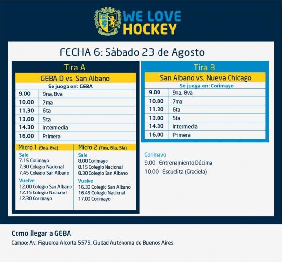 Hockey: Actividades del 23 de agosto