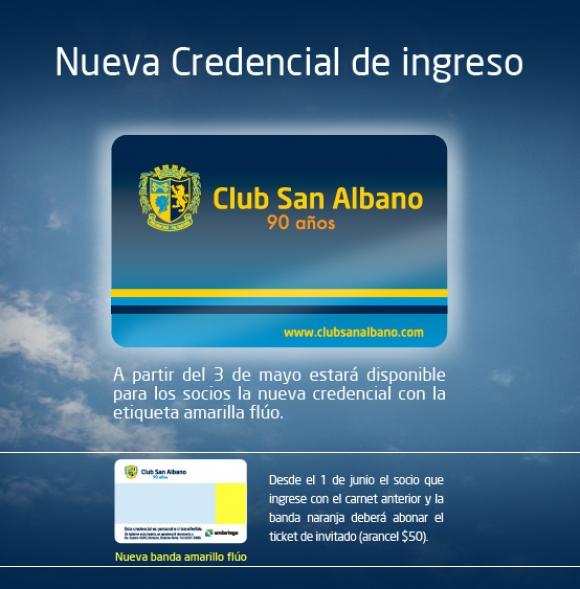 Nueva credencial de ingreso 2014
