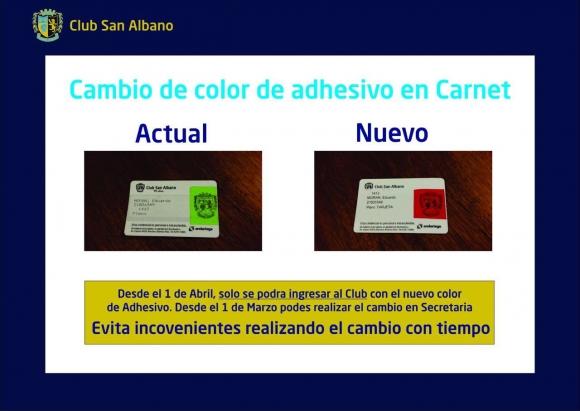 Cambio de color de adhesivo en el carnet