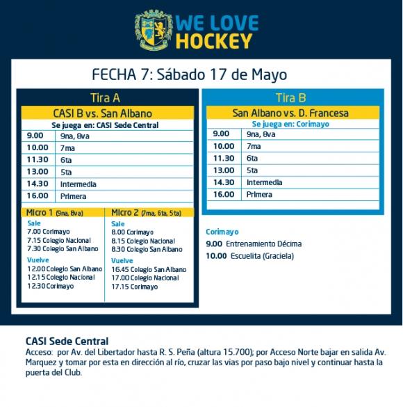 Hockey: Actividades del 17/5