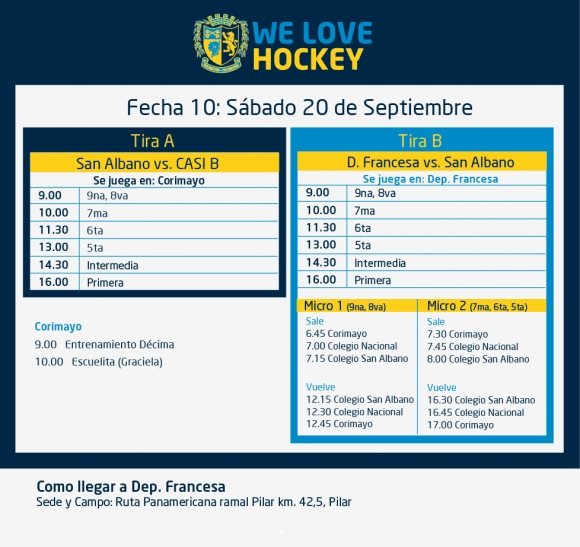 Hockey: Actividades 20/9