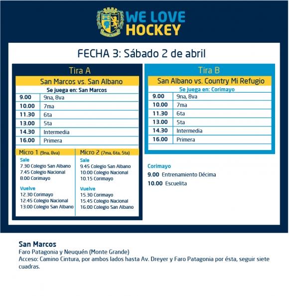 Hockey: Actividades del 2 de abril