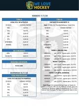 Actividades del Hockey para el 7/7 y 8/7