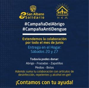 #SanAlbanoSolidario - Extendimos la ayuda