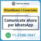 ¡Comunicate ahora también por whatsapp!