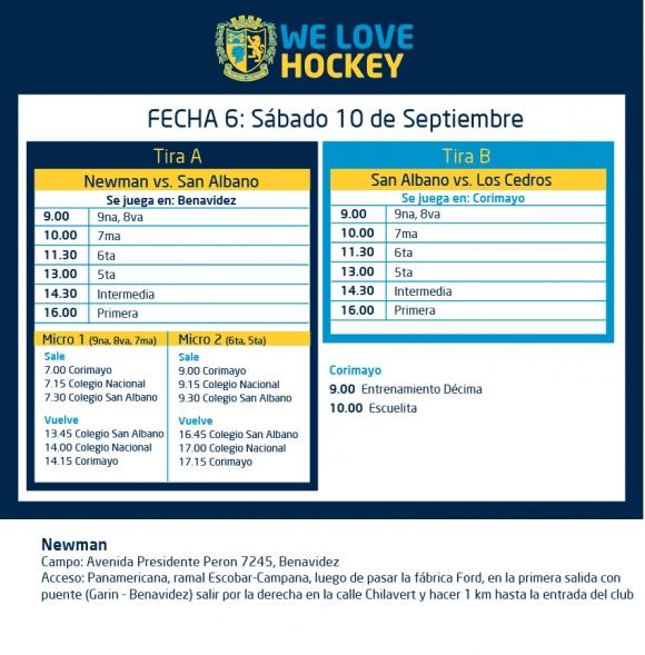 Hockey: actividades del 10 de septiembre