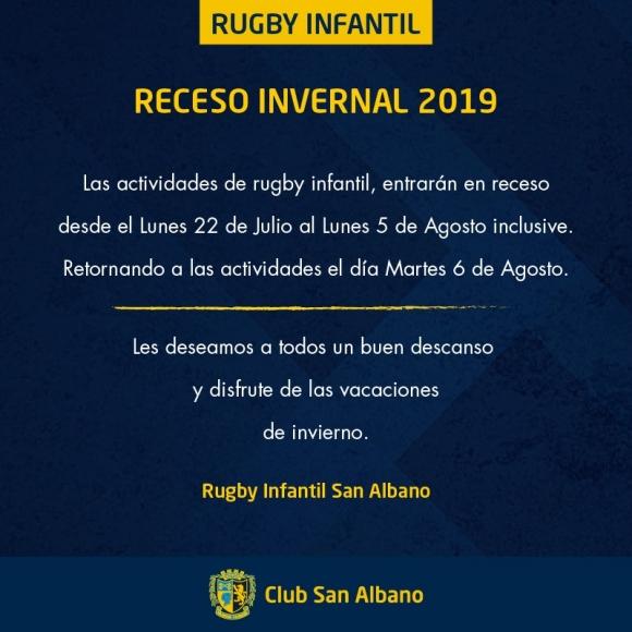 Receso en Rugby Infantil