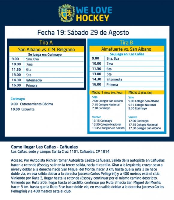 Hockey: Actividades del 29/8