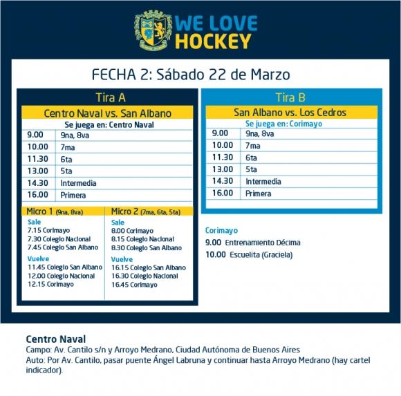 Hockey: Actividades del 22/3