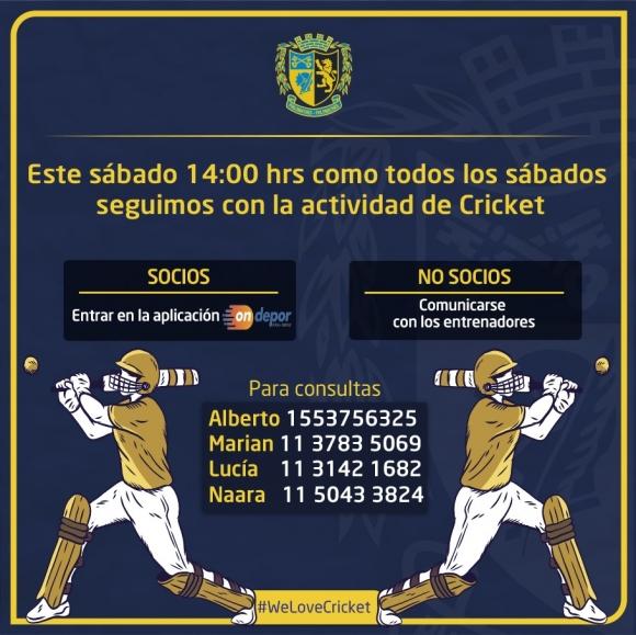 ¡Nueva clase de Cricket en nuestro Club!