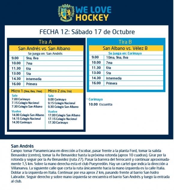 Hockey: Actividades del 17/10