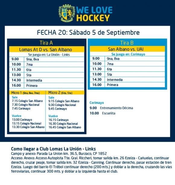 Hockey: Actividades del 5/9