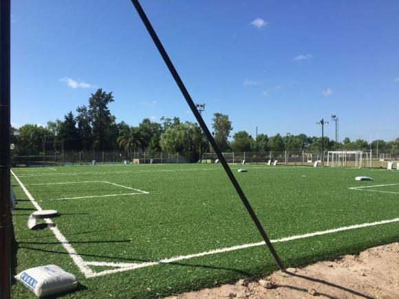 Se inauguraron las canchas de fútbol