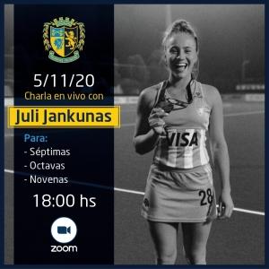 Charla en vivo con Juli Jankunas