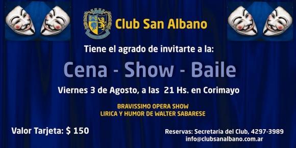 3 de Agosto: Cena-Show-Baile en Corimayo
