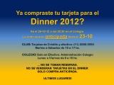 Ya compraste tu tarjeta para el Dinner 2012?