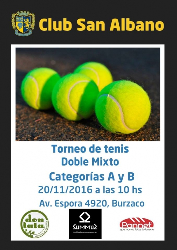 Tenis: torneo de doble mixto 2016