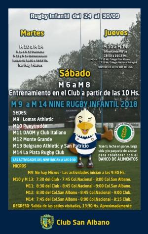 Actividades de Rugby Infantil 29/09