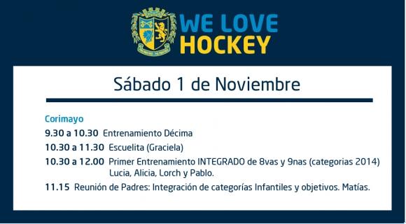 Hockey: Actividades del 1 de noviembre