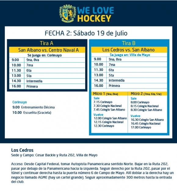Hockey: Actividades del 19 de julio
