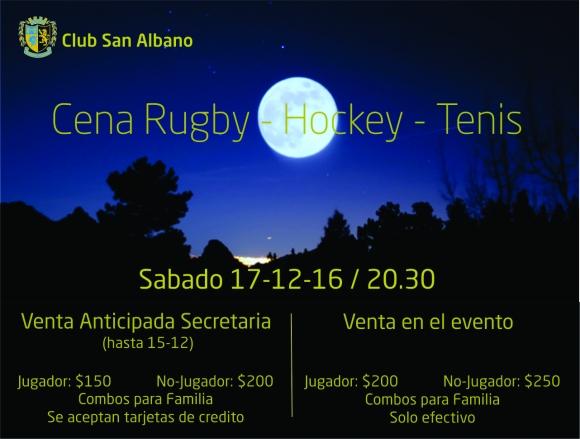 Cena Rugby - Hockey - Tenis 2016