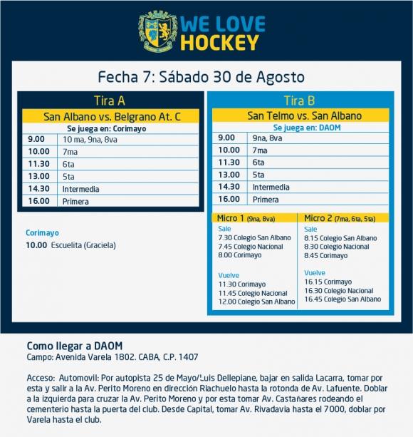 Hockey: Actividades del 30/8