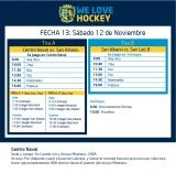 Hockey: actividades del 12 de noviembre