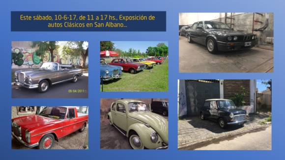 Exposición de autos clásicos en Corimayo