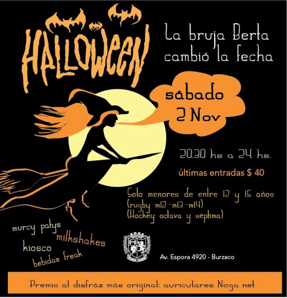 Atención! La Fiesta de Halloween pasa al 2/11