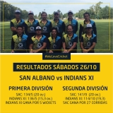 Resultados Cricket 26/10
