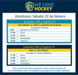 Hockey: Amistosos del 22 de febrero