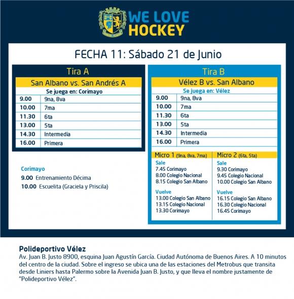 Hockey: Actividades del 20/6