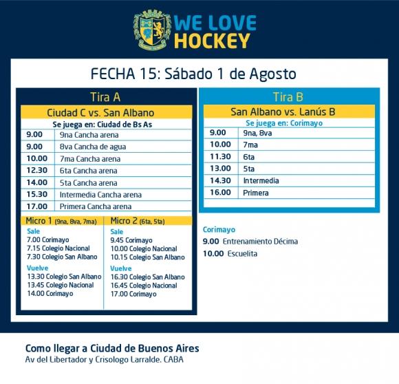 Hockey: Actividades del 31/7