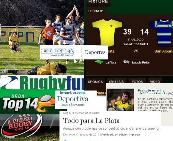 San Albano en los medios (Top 14 Fecha 1)