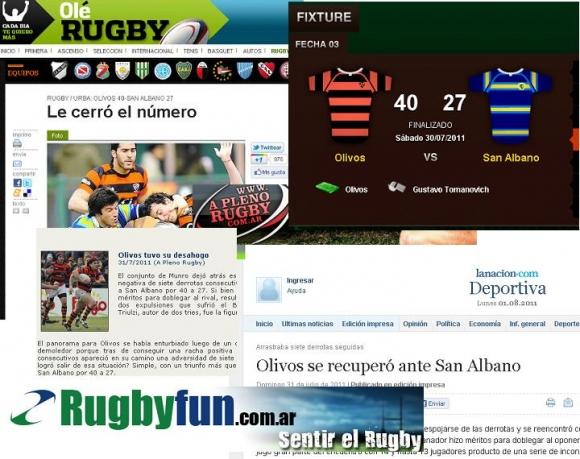 San Albano en los medios (Fecha 3 Top 14)