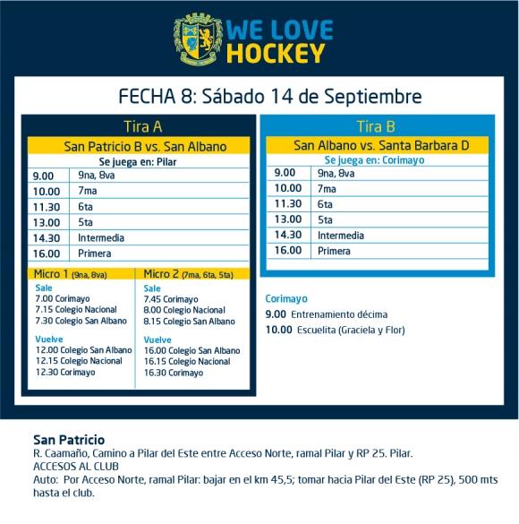 Hockey: Actividades del 14 de septiembre