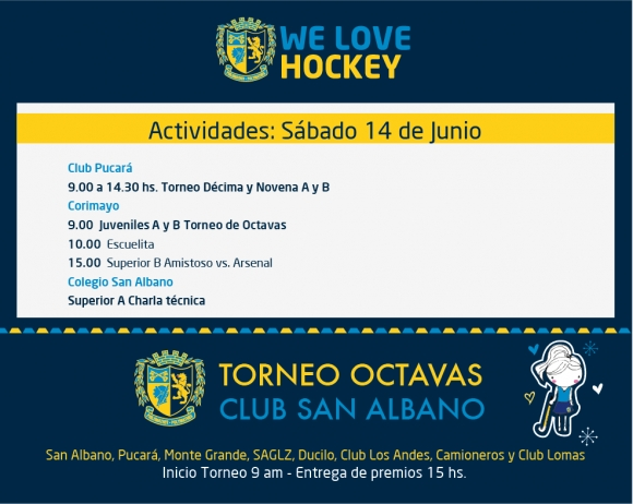 Hockey: Actividades del 14 de junio