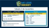 Hockey: Actividades del 2 de noviembre