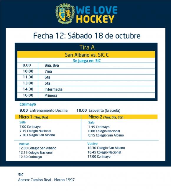Hockey: Actividades del 18/10